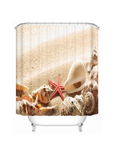 Modern Fashion Sandbeach Shell 3D Shower Curtain