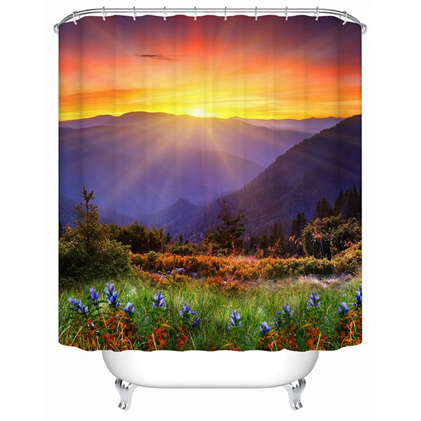 Resplendant Fancy Natural Scenery 3D Shower Curtain