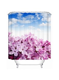 Fabulous Pink Flower and Bright Sky 3D Shower Curtain