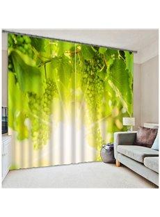 3D Plantation Pattern Energy Saving Polyester Curtain