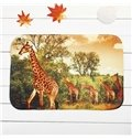 Creative Giraffes in Forest Coral Velvet Anti-Slipping Doormat