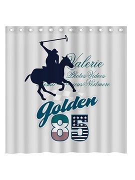 Creative Doodle Athletics Polo 3D Shower Curtain