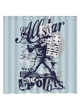 Creative Design Golf Star 3D Shower Curtain