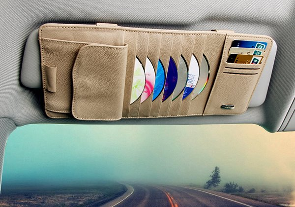 Practical Multifunctional CD Organizer for Car Sun Shades