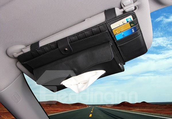 Practical Multifunctional Double Layer Organizer for Car Sun Shades