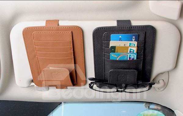Practical Multifunctional Single Layer Organizer for Car Sun Shades