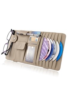 Multifunctional Leather Material CD Organizer for Car Sun Shades