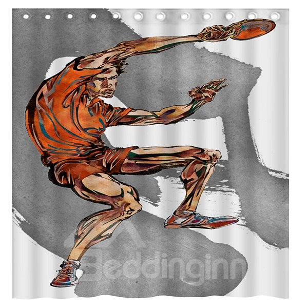 New Sports Style Playing Table Tennis Man 3D Shower Curtain