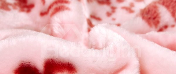 Lovely Dog Print warm Flannel Baby Blanket