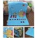 Super Cute Sky Blue Elephant Print Baby Blanket