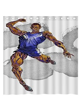 Creative Design Muscle Man 3D Shower Curtain