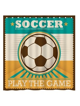 Modern Fashion Soccer Pattern 3D Shower Curtain
