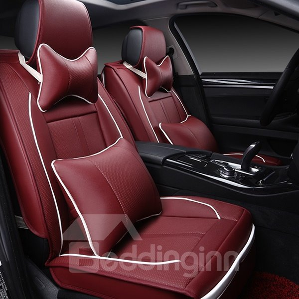 Premium Business Style With Contrasting Color Trims Universal Car Seat Cover