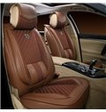 Classic Pure Color Style And Leatherette Material Elegant Universal Five Car Seat Cover
