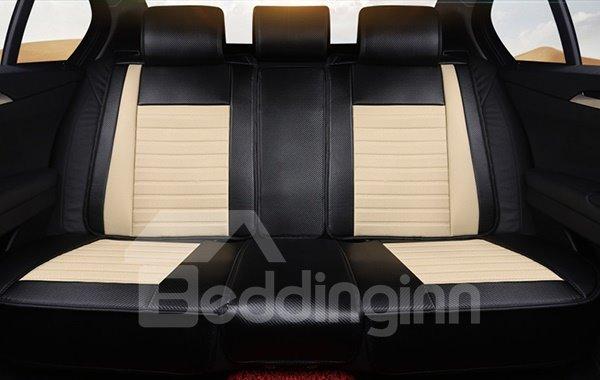 Classic Popular Premium Leather Material Pure Color Car Seat Cover