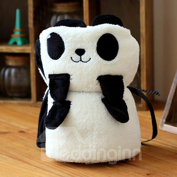 Warm Flannel Bouncy Little Panda Baby Blanket