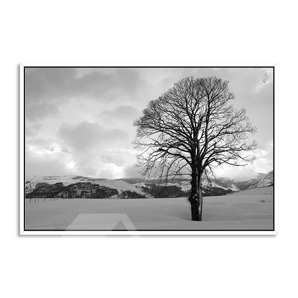Unique Winter Tree 1-Panel Framed Wall Art Prints