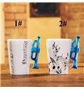 Creative Musical Theme Trumpet Design Handle Ceramic Coffee Mug