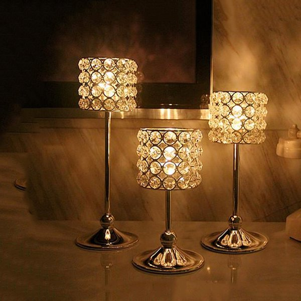 Stunning Crystal Lamp Design Candle Holder