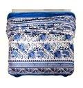 Elegant Blue Flowers Print Smooth Flannel Blanket