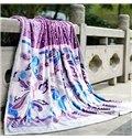 Exotic Purple Top Class Warm Flannel Blanket