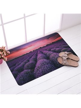 Amazing Lavendar Field in Sunset Glow Anti-Slipping Doormat