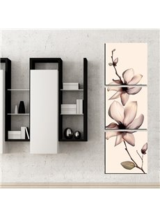 Wonderful Water Color Style Flowers 3-Panel Canvas Wall Art Prints