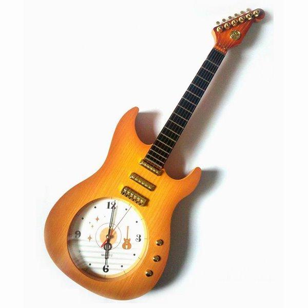 Wonderful Guitar Design Plastic Decorative Mute Wall Clock
