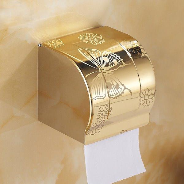 Modern Fashion Home Decor Golden Butterfly Toilet Paper Holder