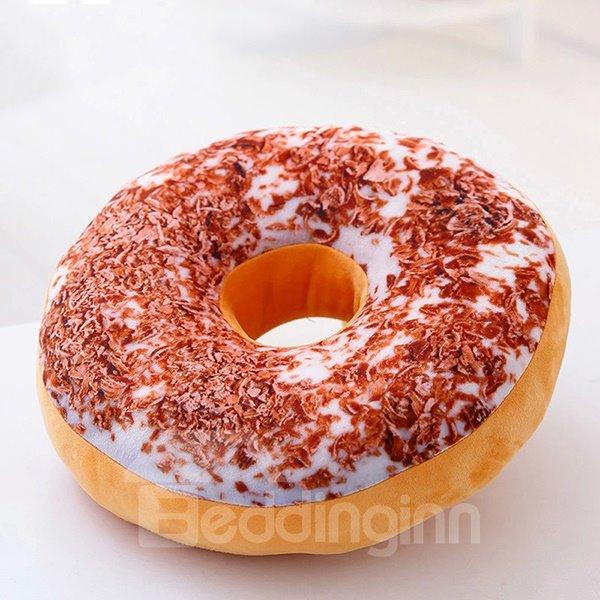 Creative Tasty Donut Design Round-shaped Throw Pillow