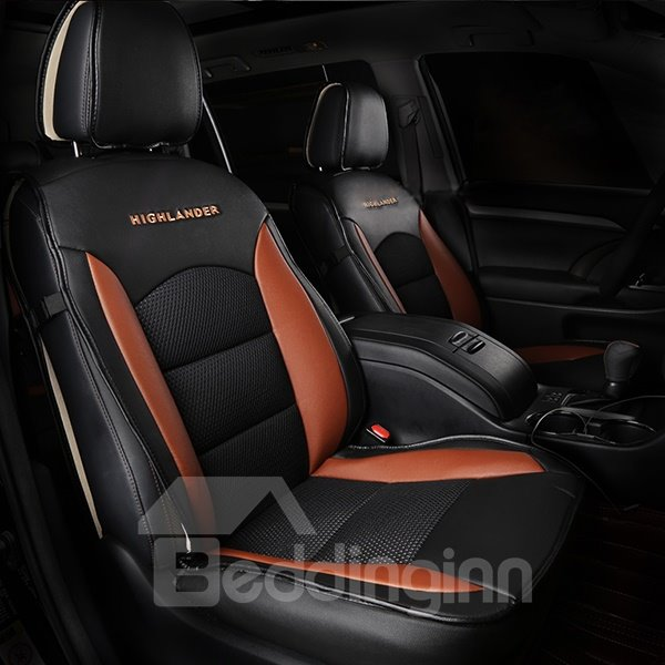 Premium Dual Colored Sporty Customized 7 Seater Car Seat Cover