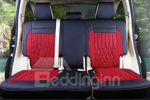 Premium Leather Material Dual Colorblock Customized 7 Seater Car Seat Cover