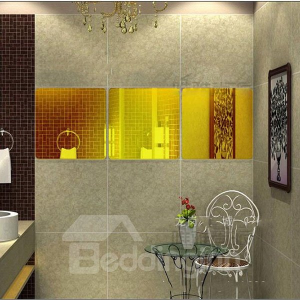 Wonderful Mirror Surface 3-Piece DIY Acrylic Removable 3D Wall Sticker