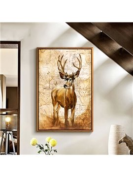 Wonderful American Country Style Deer 1-Panel Framed Wall Art Print