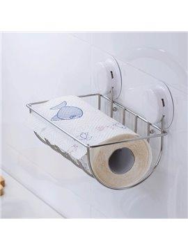 Modern New Home Decor Convenient Enlarged Sucker Toilet Paper Holder