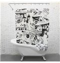 Artistic Charming Graceful Sexy Mermaid Shower Curtain