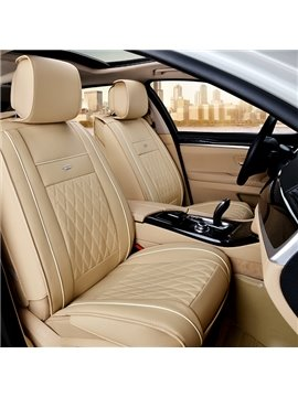 Modern Business Style Diamond Patterns With Color Trims Universal Car Seat Covers