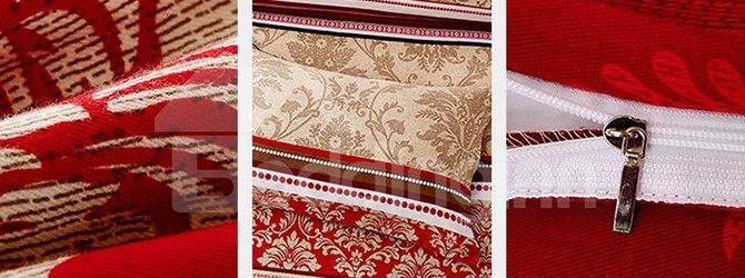 Exquisite Jacquard Printing European Style 4-Piece Cotton Duvet Cover Sets