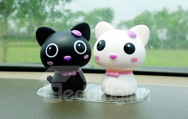 Creative And Cute Head Shaking Kitten Car Decor