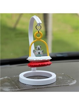 Creative Koala In Swim Ring Cartoon Stand Car Decor