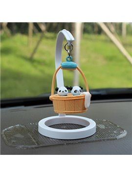Creative Panda In Bucket Cartoon Stand Car Decor