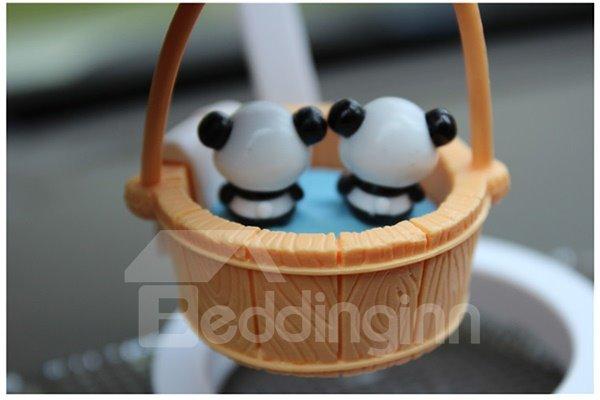 Creative Panda In Bucket Cartoon Stand Car Decor
