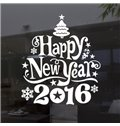 Festival Happy New Year Letters Window Decoration Removable Wall Sticker