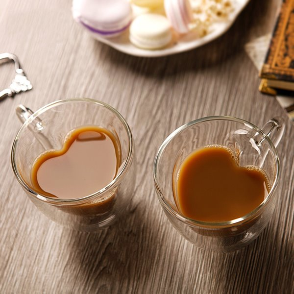 68 Romantic Heart-Shaped 1-Pair Glass Coffee Cups Gift Ideas & Romantic Heart-Shaped 1-Pair Glass Coffee Cups Gift Ideas ...