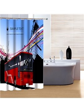 Creative Design Modern City Life 3D Shower Curtain