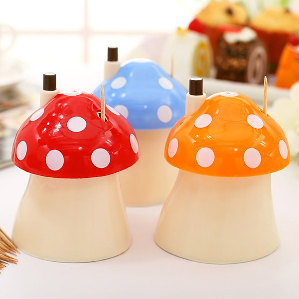 Cute Mushroom Design Toothpick Holder Dinner Table Decoration