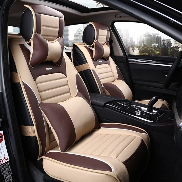 classic sport style contrasting colors design universal five car seat cover. Black Bedroom Furniture Sets. Home Design Ideas