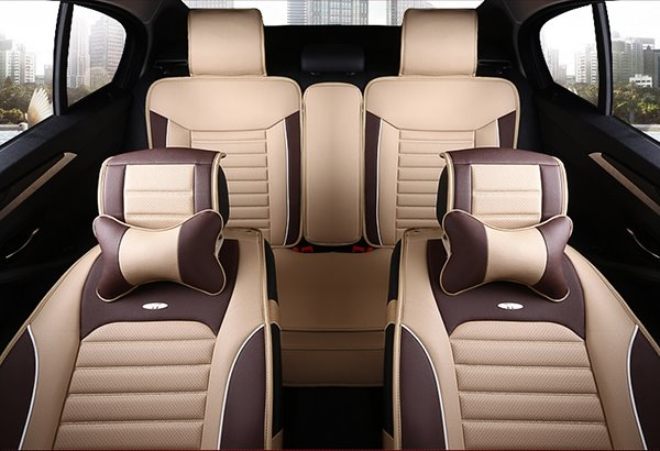 Classic Sport Style Contrasting Colors Design Universal Five Car Seat Cover