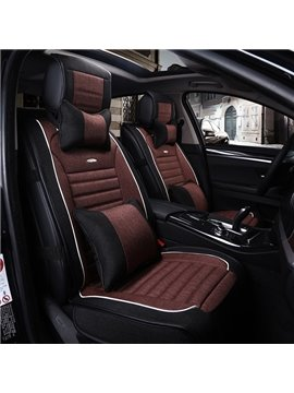 Premium Linen Leatherette Material Comfortable Dual Color Universal Car Seat Cover