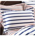 Bright Concise Stripes Design Cotton 4-Piece Duvet Cover Sets